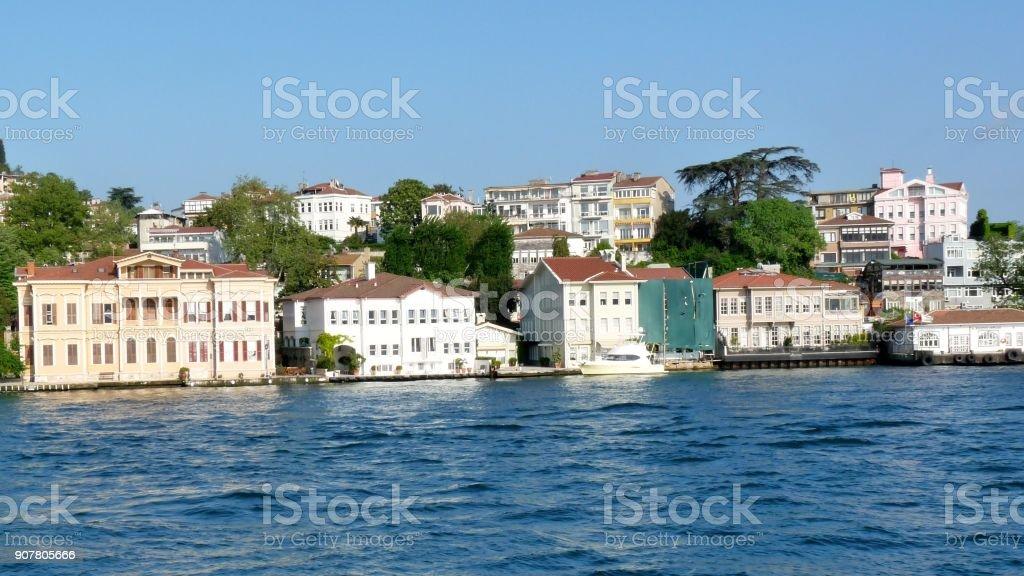 Coast at Bosporus stock photo