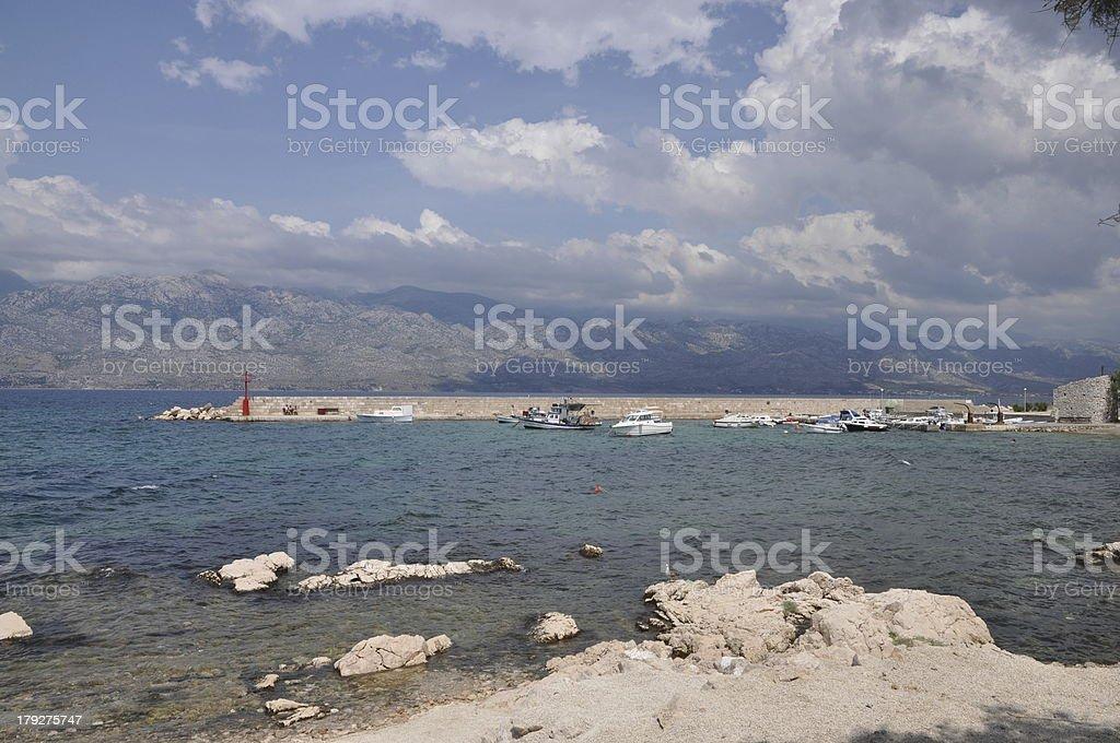 Coast at Razanac, Croatia royalty-free stock photo