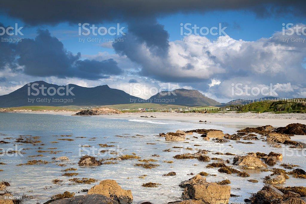 Coast at Tully Cross, Connemara National Park stock photo