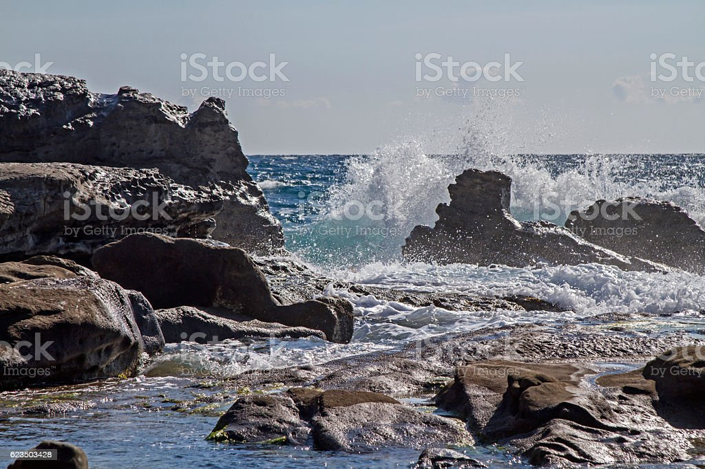 coast ati Bordighera stock photo