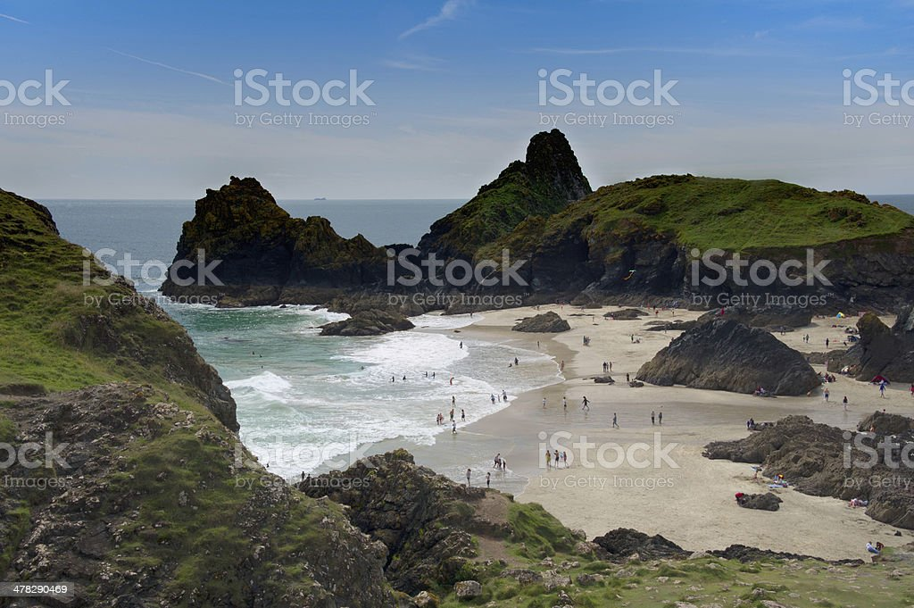 Coast Beach and bay at Kynance Cove Cornwall England royalty-free stock photo