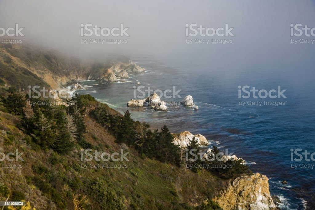 coast between Pfeiffer National Parc and Pacific Valley at   Route No. 1 stock photo