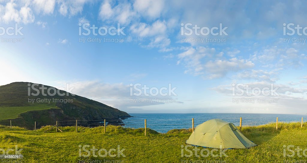 Coast camping royalty-free stock photo