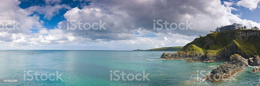 Coast, cliffs, cloudscape royalty-free stock photo