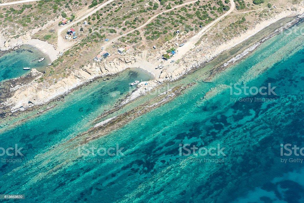 coast formations stock photo