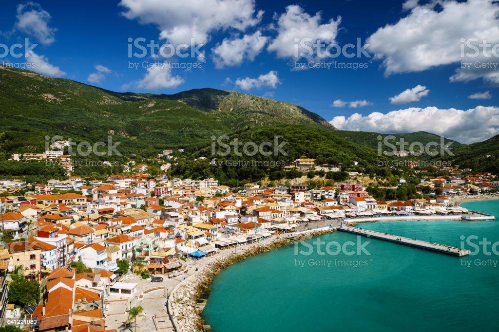Coast Greece, Parga, Ionian sea stock photo