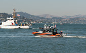 Coast guard and police patrol the San Francisco Ca. Bay Oct 8, 2017