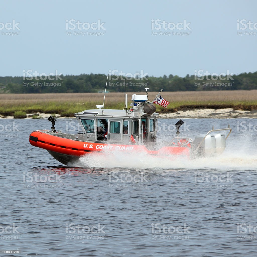U.S. Coast Guard Boat royalty-free stock photo