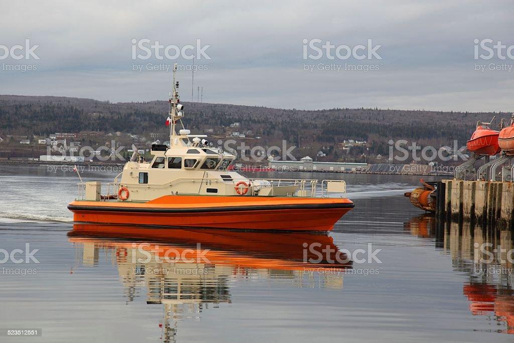 Coast Guard Boat stock photo