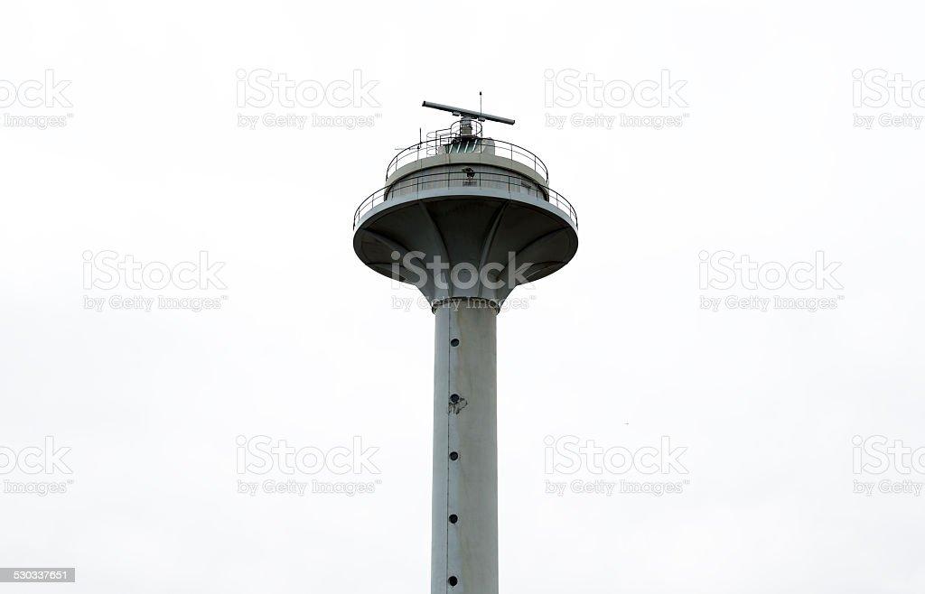 Coast guard communication tower stock photo