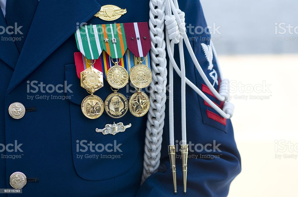 US Coast Guard Company Commander stock photo