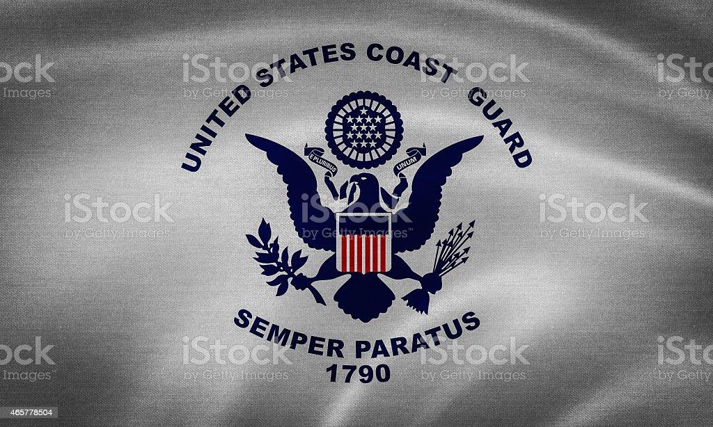 US coast guard flag stock photo