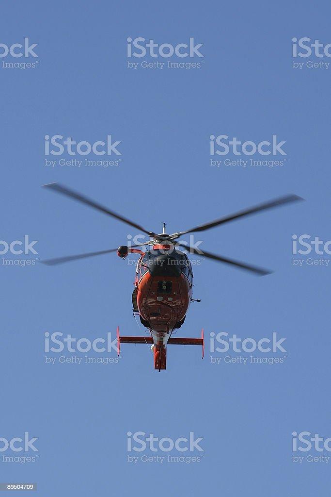 Helikopter Straży Przybrzeżnej USA zbiór zdjęć royalty-free