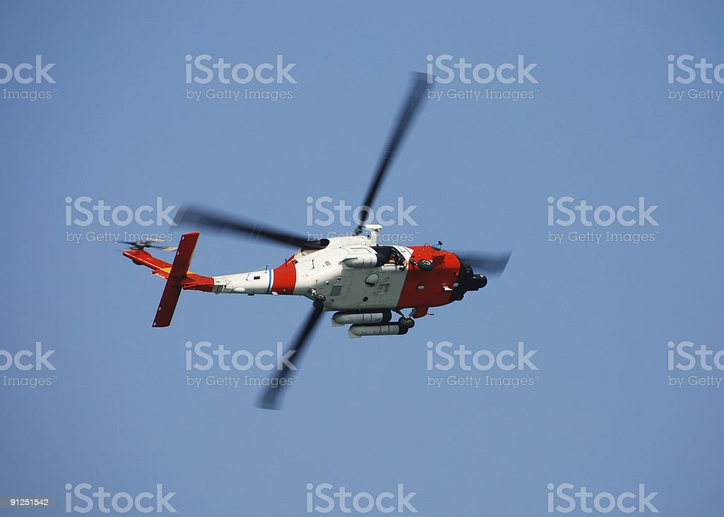 Coast Guard helicopter royalty-free stock photo