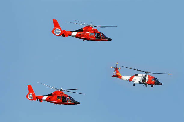 Coast Guard helicopters stock photo