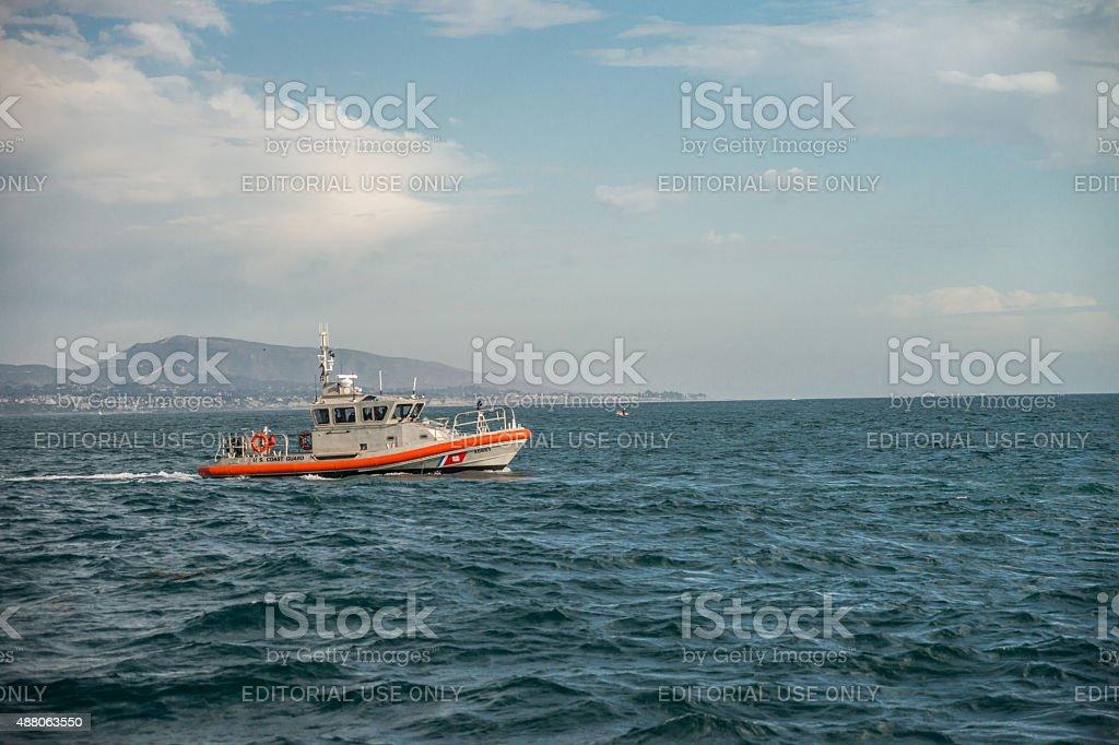 US Coast Guard Patrol Boat stock photo
