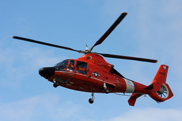 US Coast Guard Rescue Helicopter stock photo