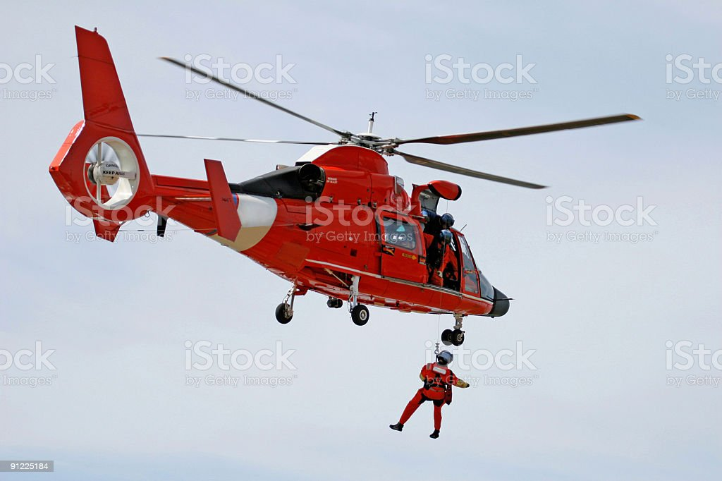 Coast Guard Rescue stock photo