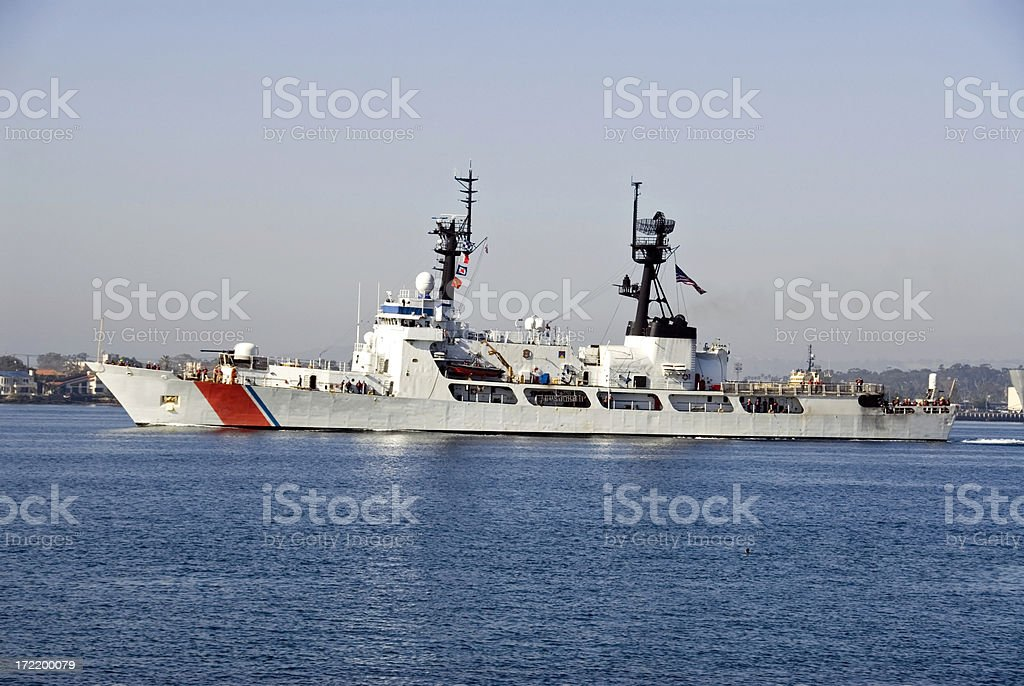 US Coast Guard Ship royalty-free stock photo