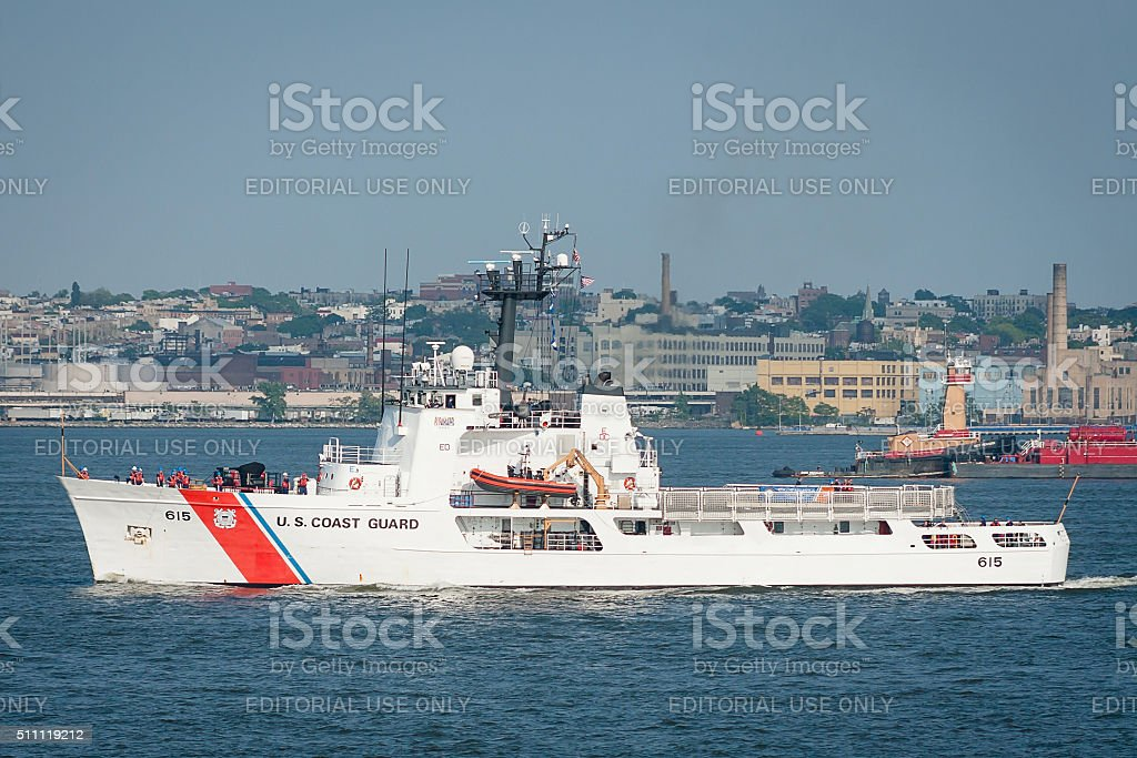 US  Coast Guard Ship. stock photo