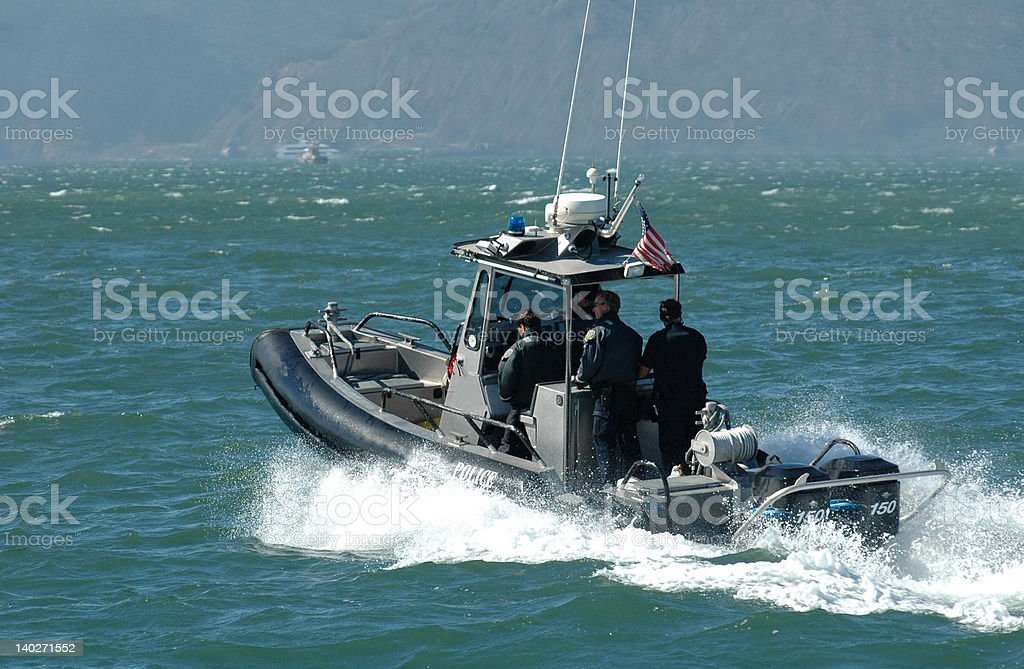 US Coast guard speedboat stock photo