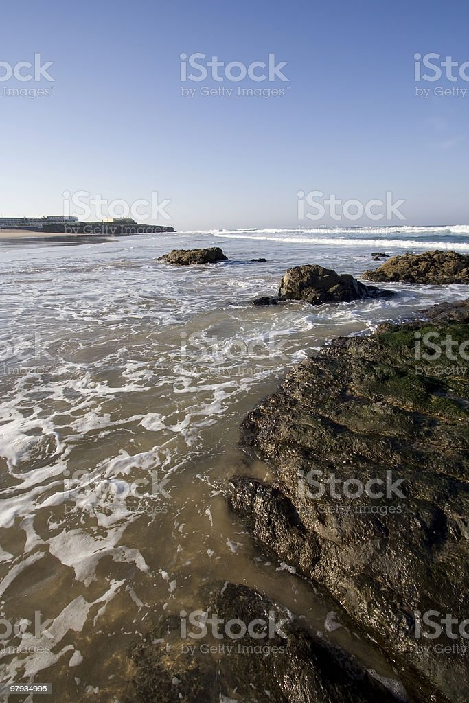 coast in a beach royalty-free stock photo