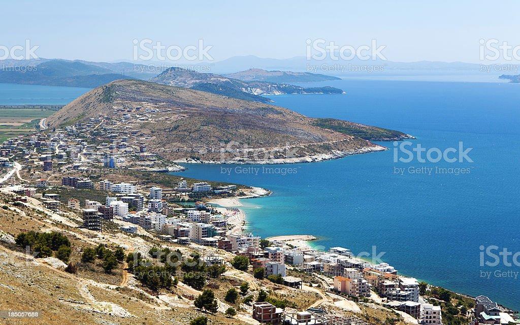 coast in Albania stock photo