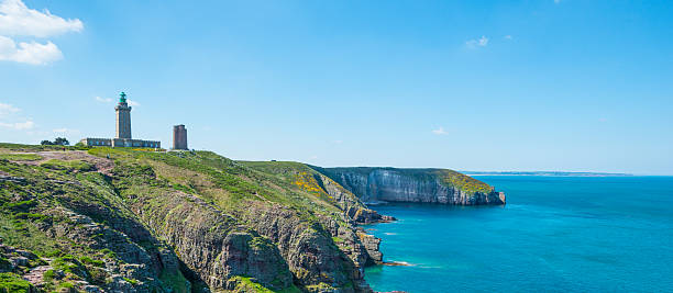 Coast in Britanny, France Beautiful coastline in Britanny (Bretagne), France, during summer sunny day manche stock pictures, royalty-free photos & images