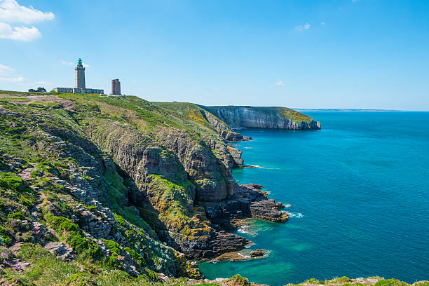 """Coast in Britanny, France """"Beautiful coastline in Britanny (Bretagne), France, during summer sunny day"""" manche stock pictures, royalty-free photos & images"""