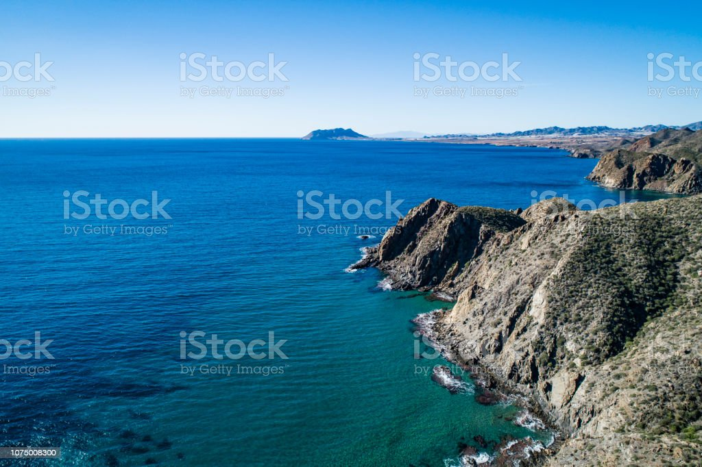 Coast in Mazarron Murcia Spain stock photo