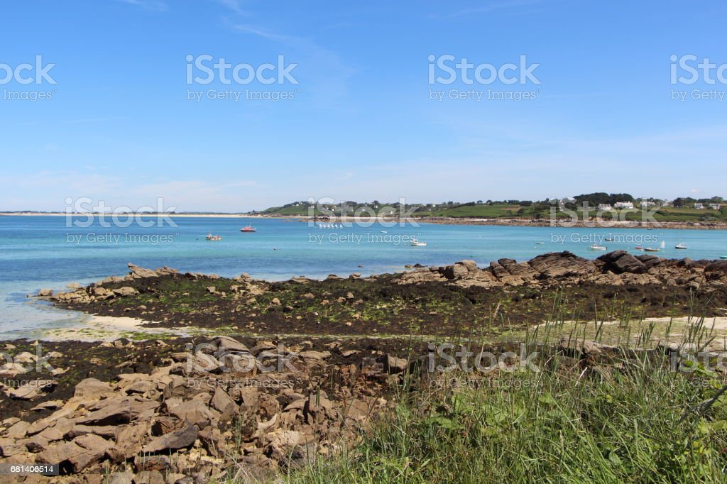 Coast in Plouguerneau royalty-free stock photo