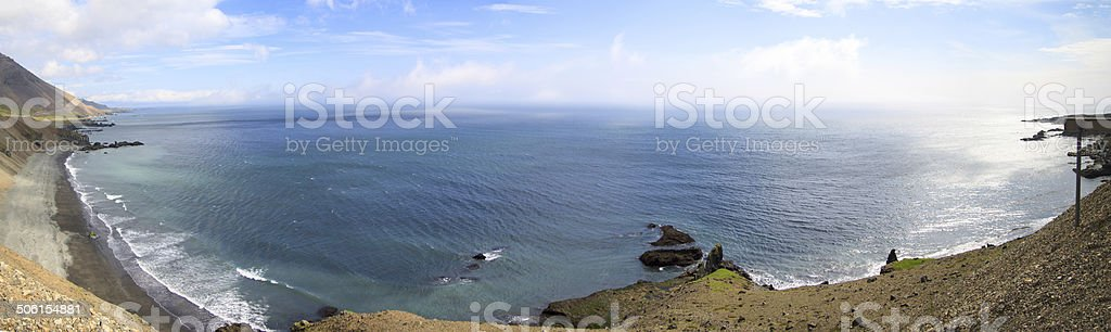 Coast in the East Fjords Iceland. stock photo