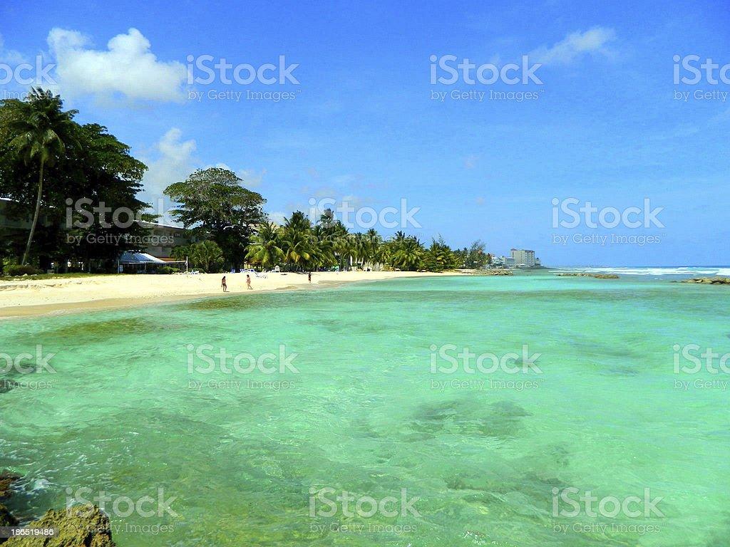 Coast line and beach in Bahamas royalty-free stock photo