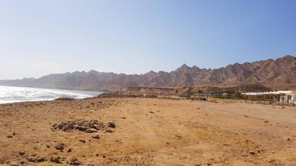 Coast near Blue hole, Dahab, Egypt stock photo