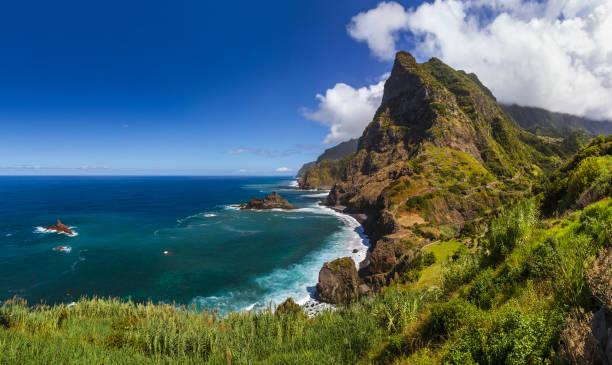 Coast near Boaventura - Madeira Portugal stock photo