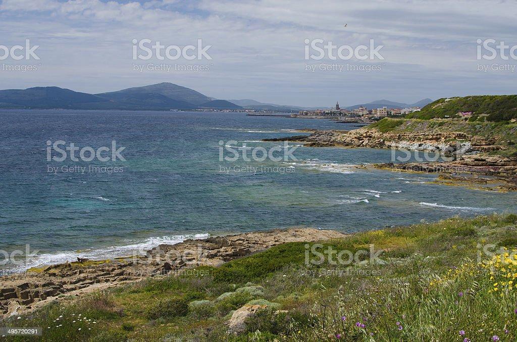Coast of Alghero, Sardinia Island stock photo