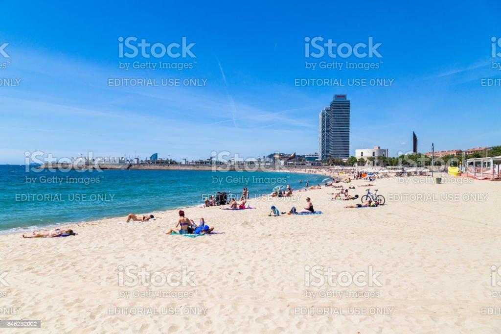 Costa de Barcelona - foto de stock