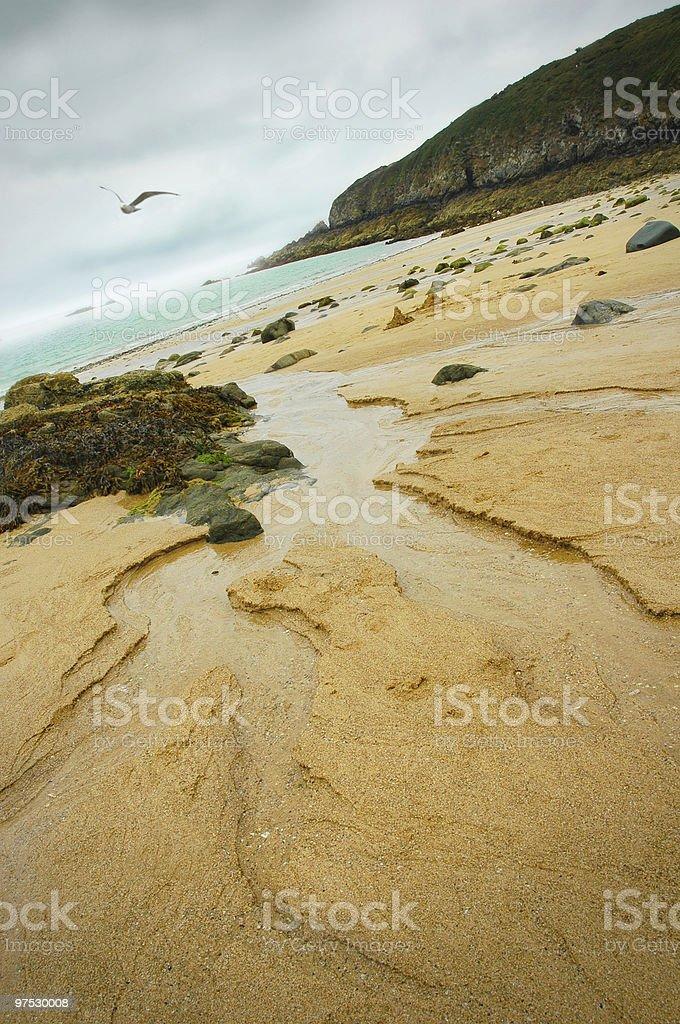 Coast of Brittany royalty-free stock photo