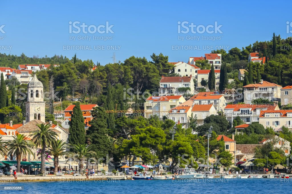 Coast of Cavtat stock photo