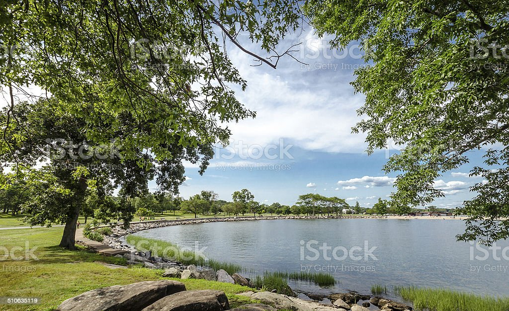 Coast of Connecticut stock photo