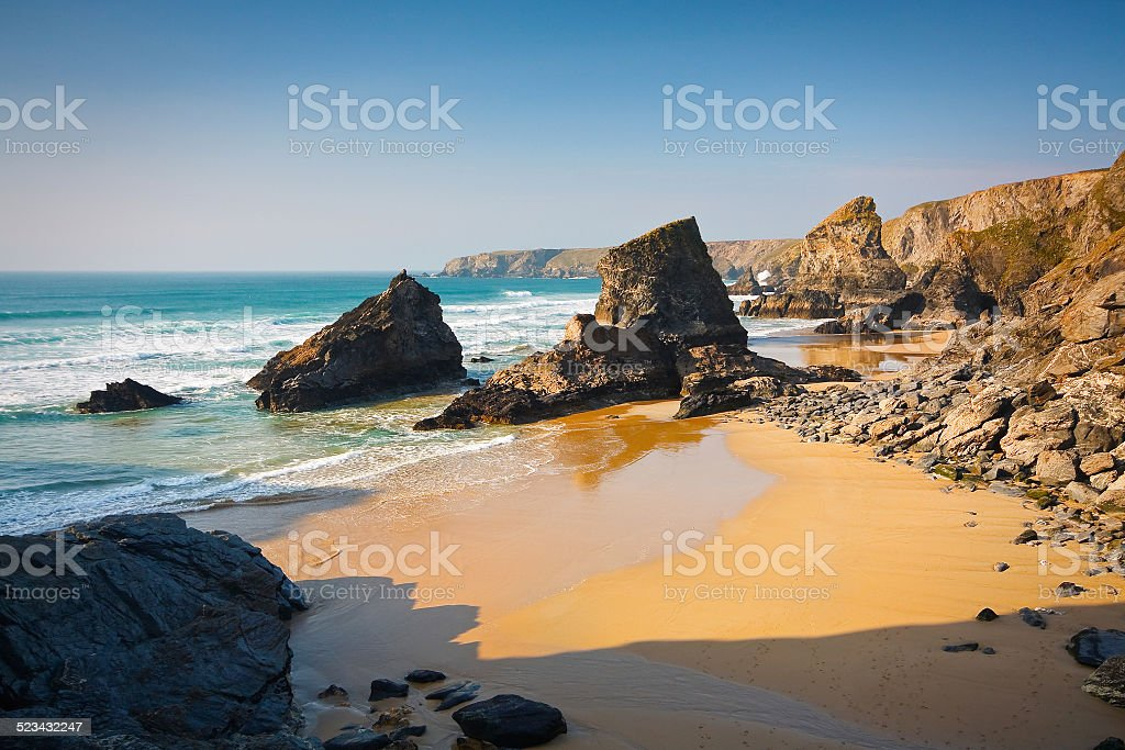 Coast of Cornwall, UK. stock photo