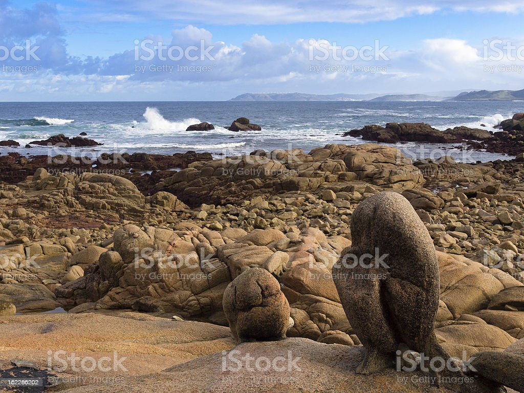 Coast of Dead in Galicia royalty-free stock photo
