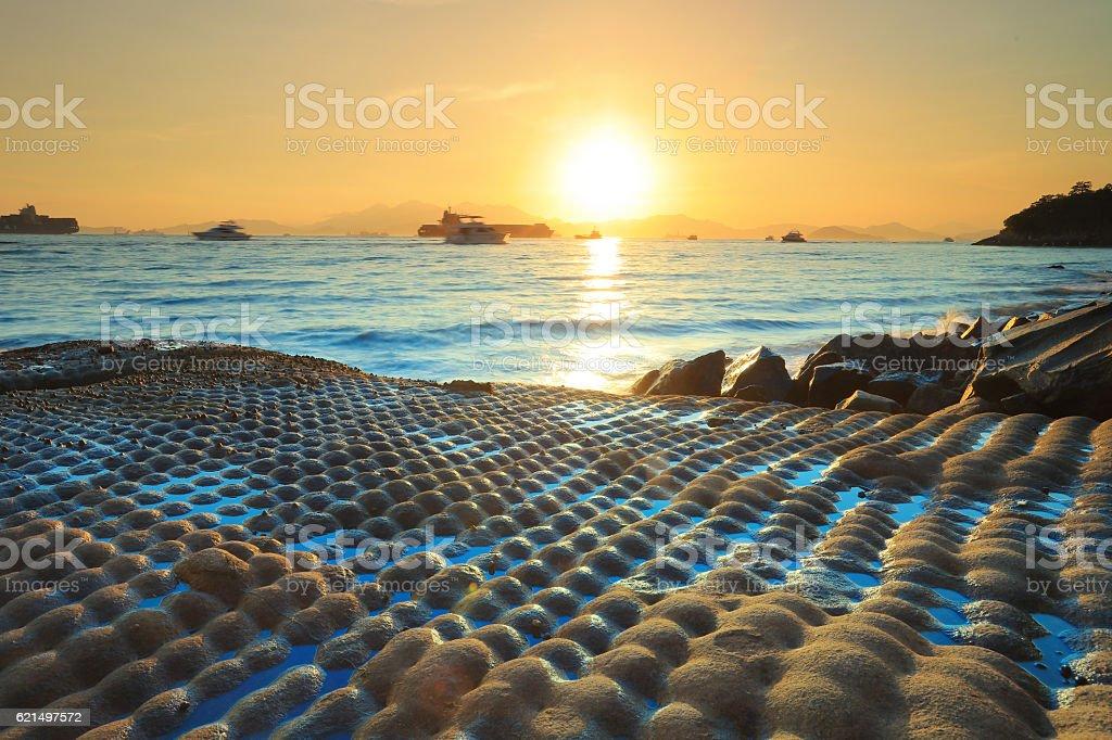 coast of East Lamma Channel photo libre de droits