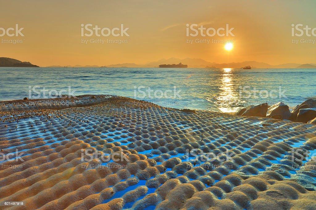 coast of East Lamma Channel Lizenzfreies stock-foto