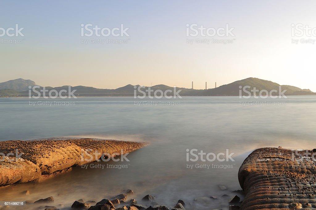 coast of East Lamma Channel foto stock royalty-free
