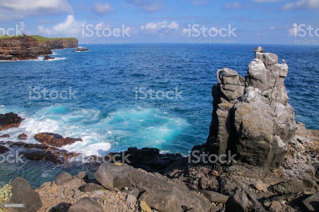 Coast of Espanola Island, Galapagos National park, Ecuador. stock photo
