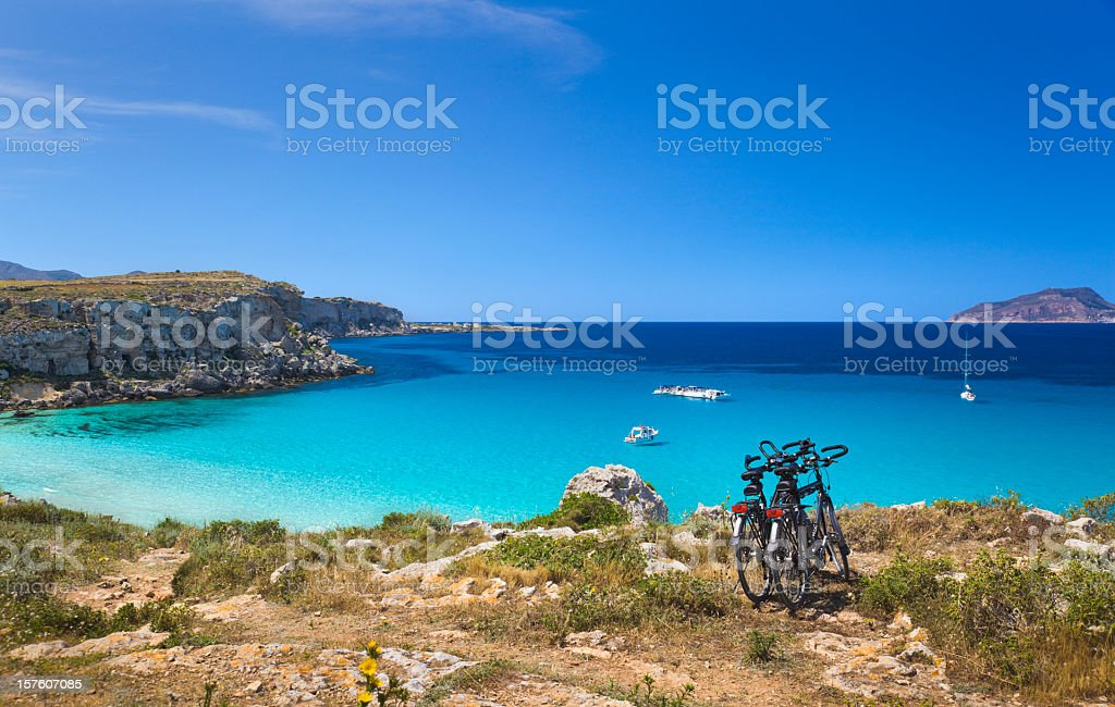 Coast of Favignana stock photo