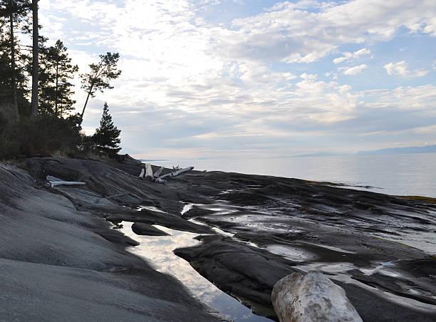 Coast of Galiano Island stock photo