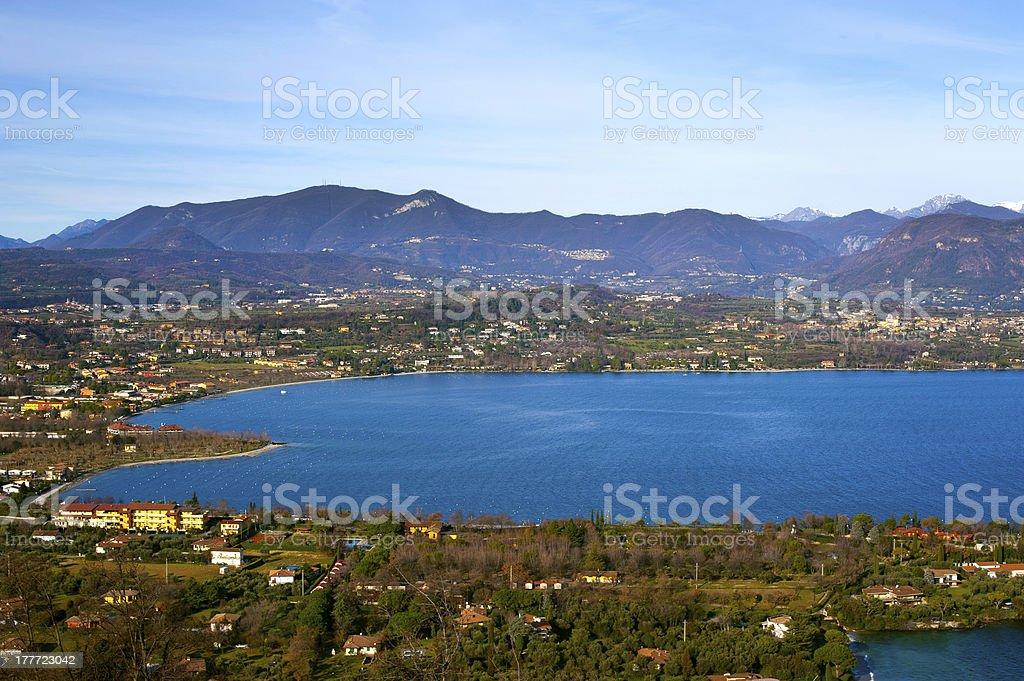 coast of garda lake royalty-free stock photo