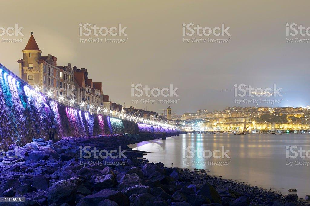 Coast of Getxo, Basque Country, Spain. stock photo
